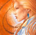 blonde et boucle bleue