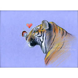 Butterfly and Tiger in Love by krukof2