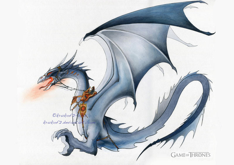 a game of throne motion comics dragon by krukof2 on