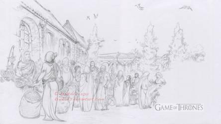 A Game Of Thrones Motion Comics-Qarth Market