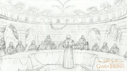 A GAME of THRONES - The Council chamber of Qarth.
