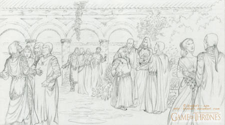 A GAME of THRONES - The Courtyard Party - Qarth.