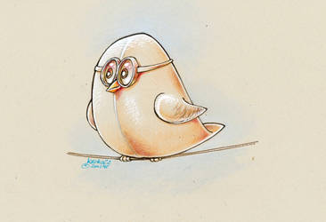 Big Bird With Glasses by krukof2