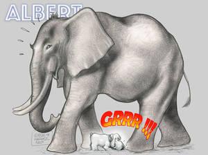 Albert and the Elephant by krukof2