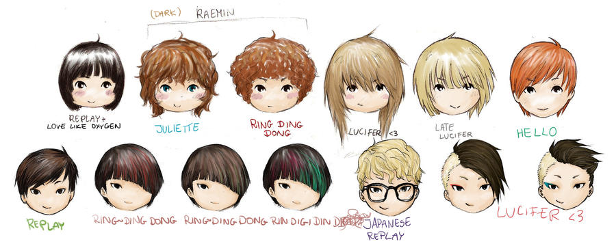 SHINee Tae+Key signature hairstyles by rainbowhamsters on ...