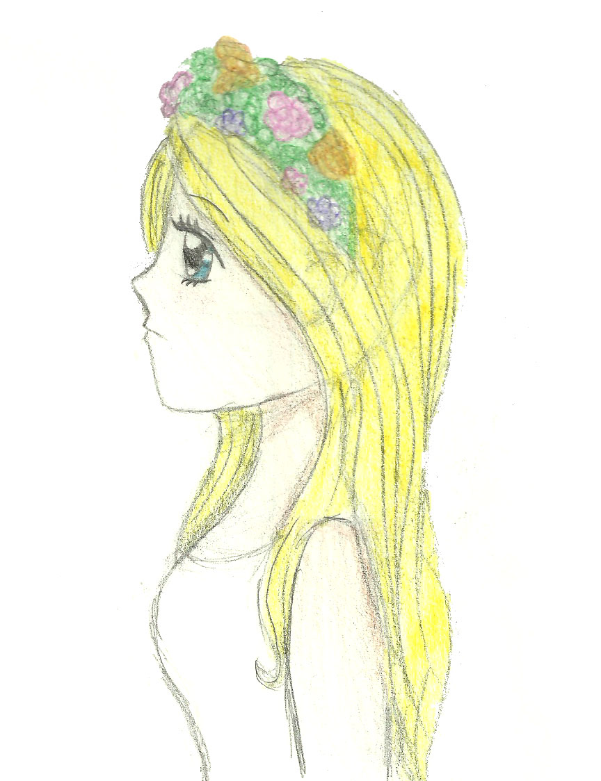 Girl With Flower Crown by slushee1 on DeviantArt