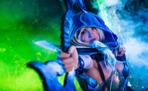 Drow Ranger Dota 2 cosplay. My bow is strung!