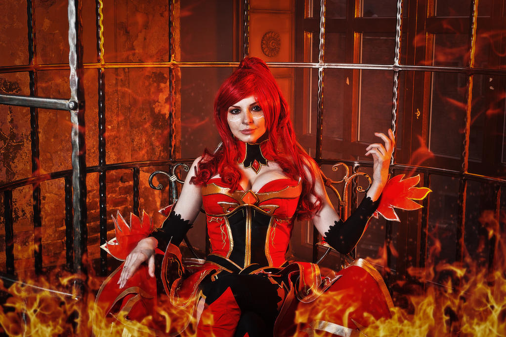 lina dota 2 cosplay wanna play with fire by amio mio on deviantart
