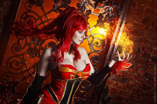 Hell fire Hell bitch. Lina dota 2 cosplay