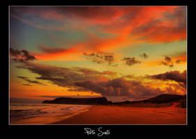 Porto Santo powerful sunset