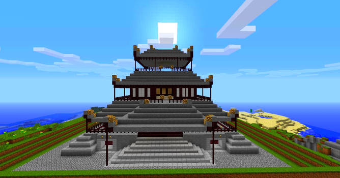 Japanese building in minecraft