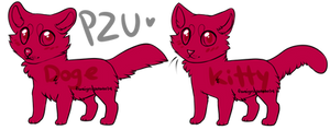 cat and dog lines P2U by foreign-potato