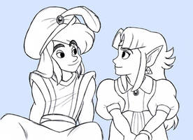 A Link to the Past+Aladdin by BlueLink