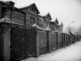 snow is knocking in the gates by MissLumikki