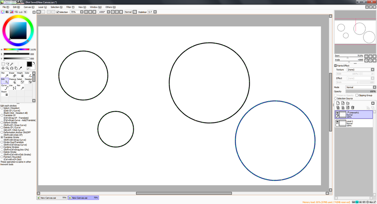 Paint Tool SAI - How to draw perfect circles by Teslarossa on ...