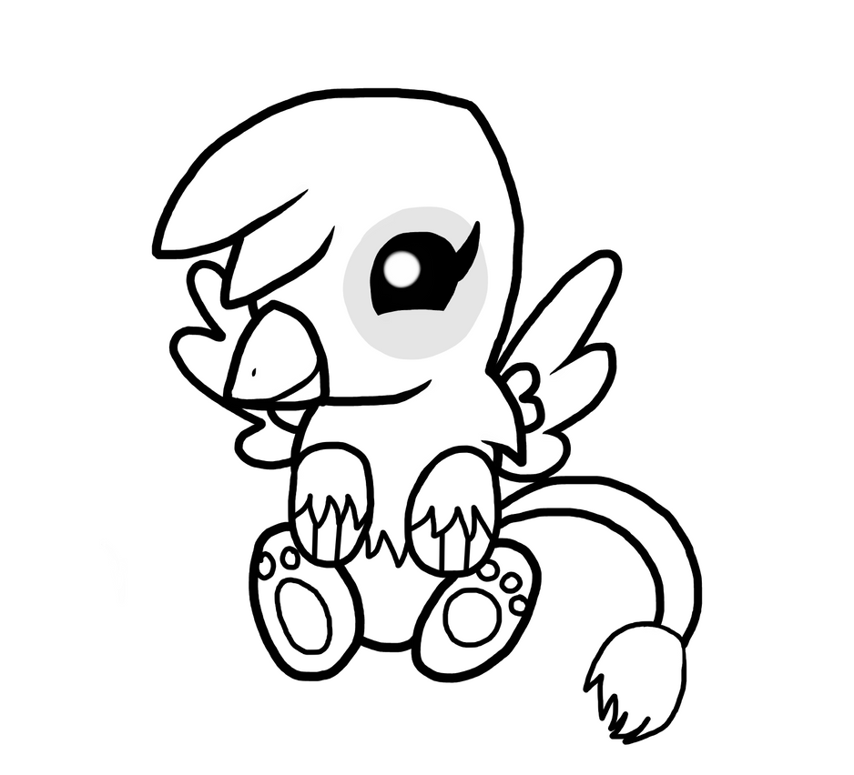 Baby Griffin Coloring Pages | Bgcentrum