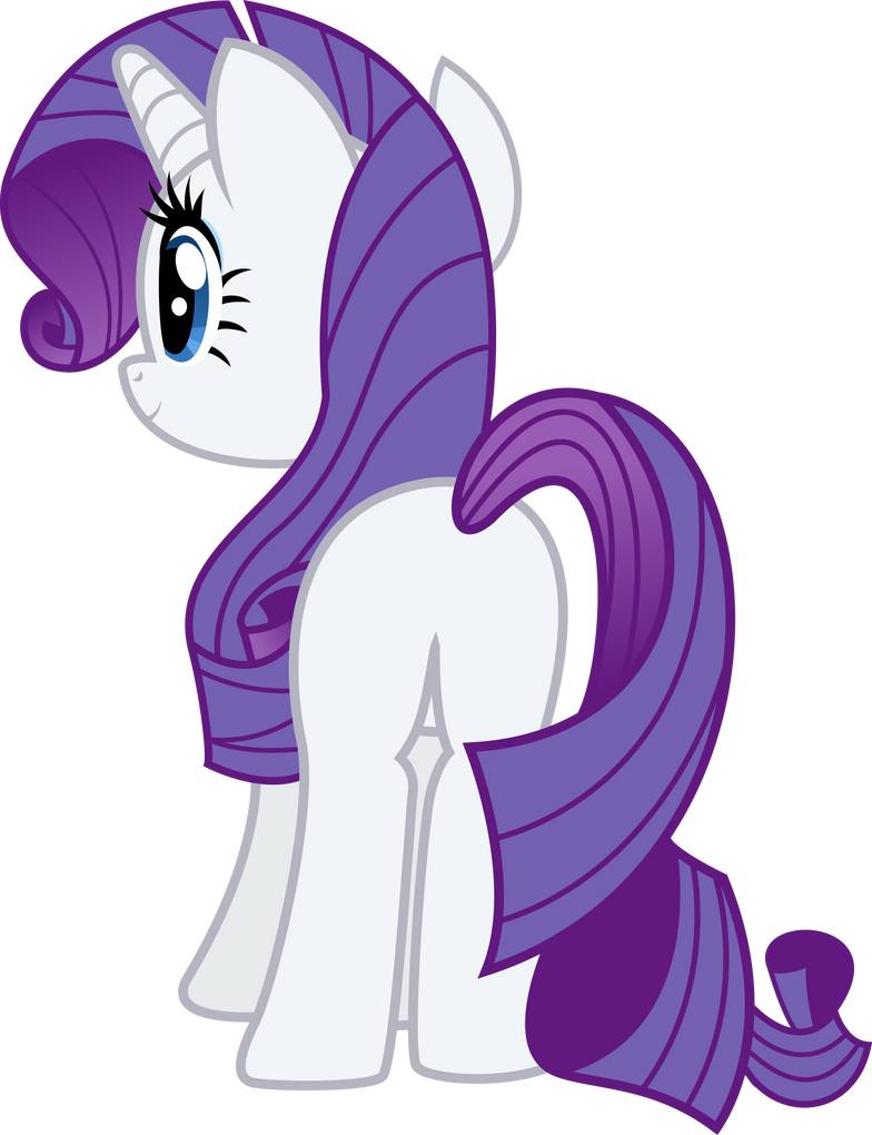 Rarity Pony R34 Rarity Back View by Th...