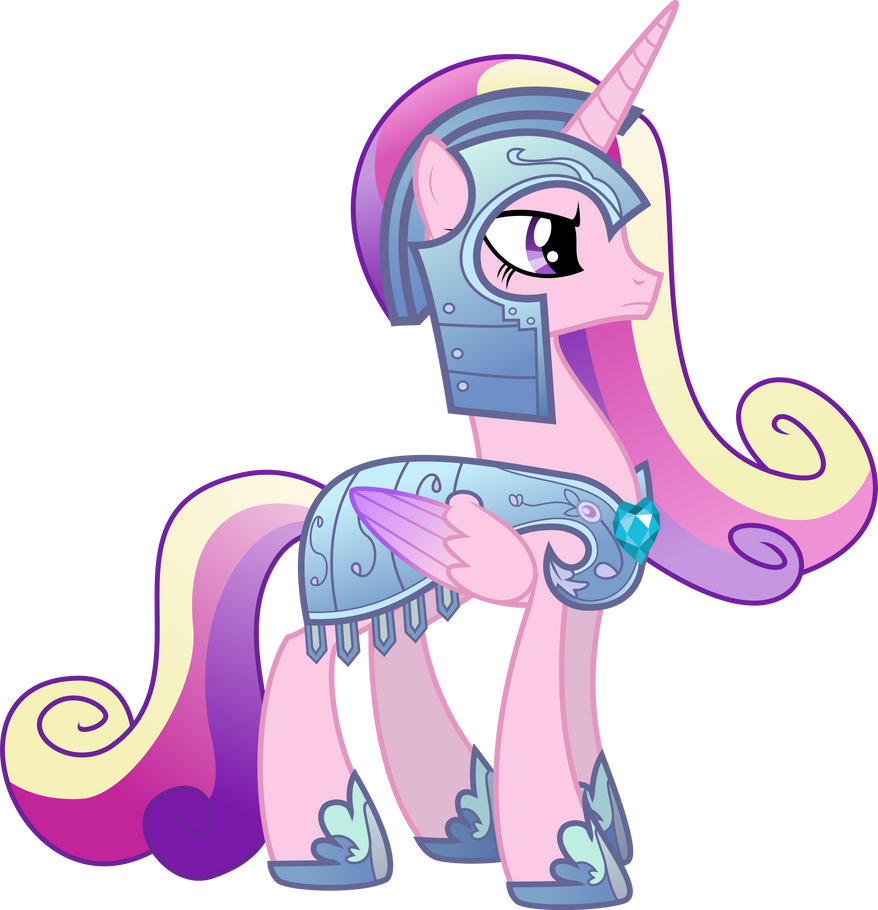 Princess Cadance In Royal Armor By TheShadowStone On