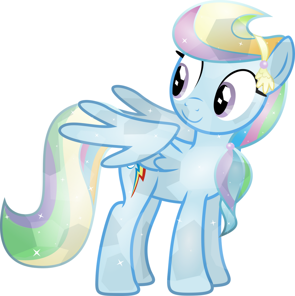 Crystal Rainbow Dash by TheShadowStone