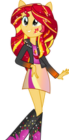 Equestria Girls: Sunset Shimmer Rainbowfied by TheShadowStone