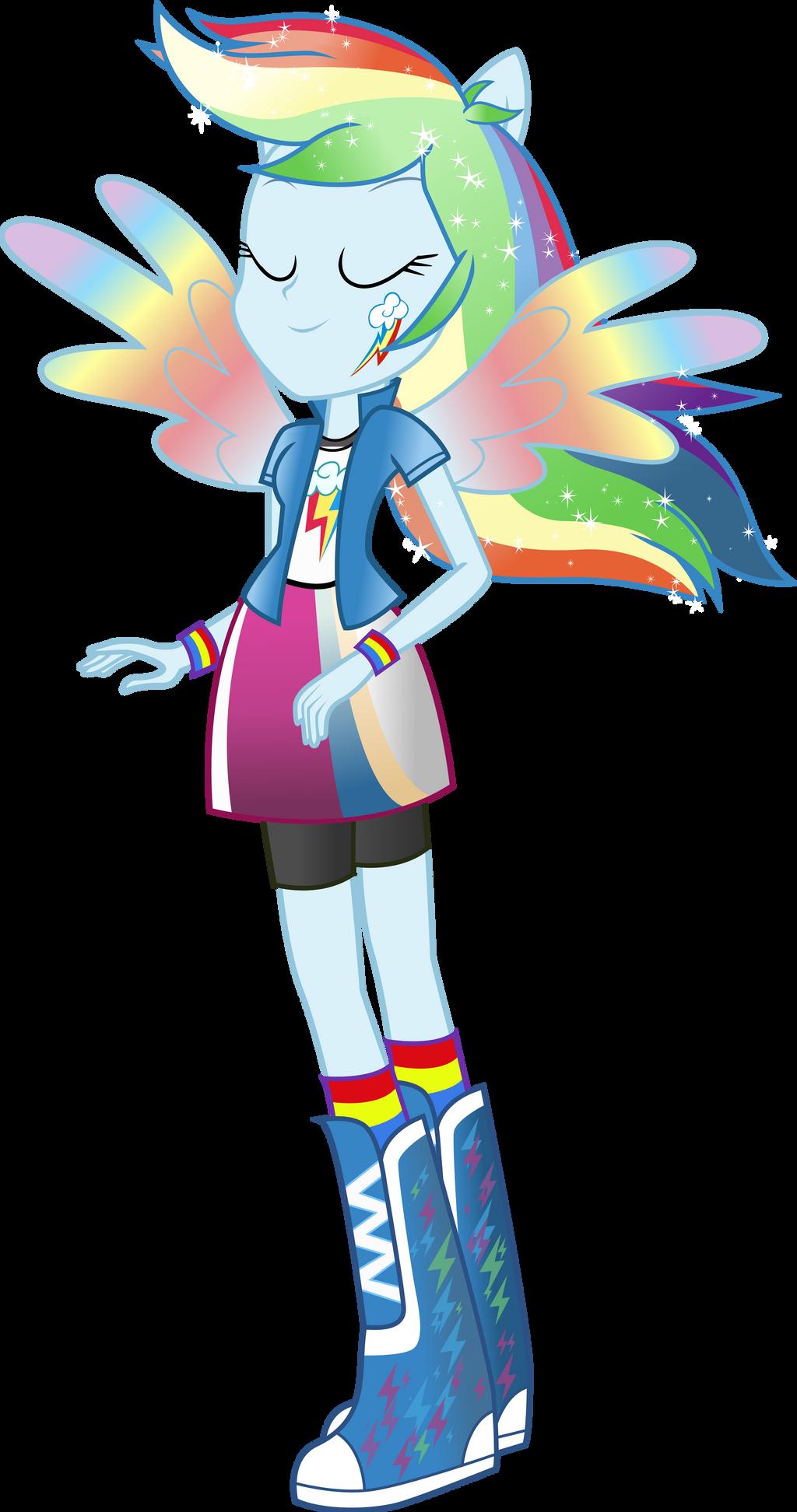 Equestria Girls Rainbow Dash Rainbowfied By TheShadowStone