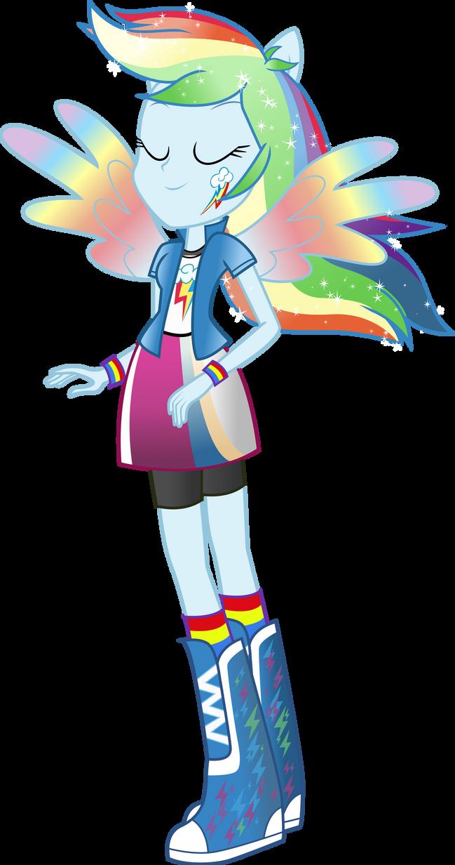 Equestria Girls Rainbow Dash Rainbowfied By Theshadowstone On Deviantart