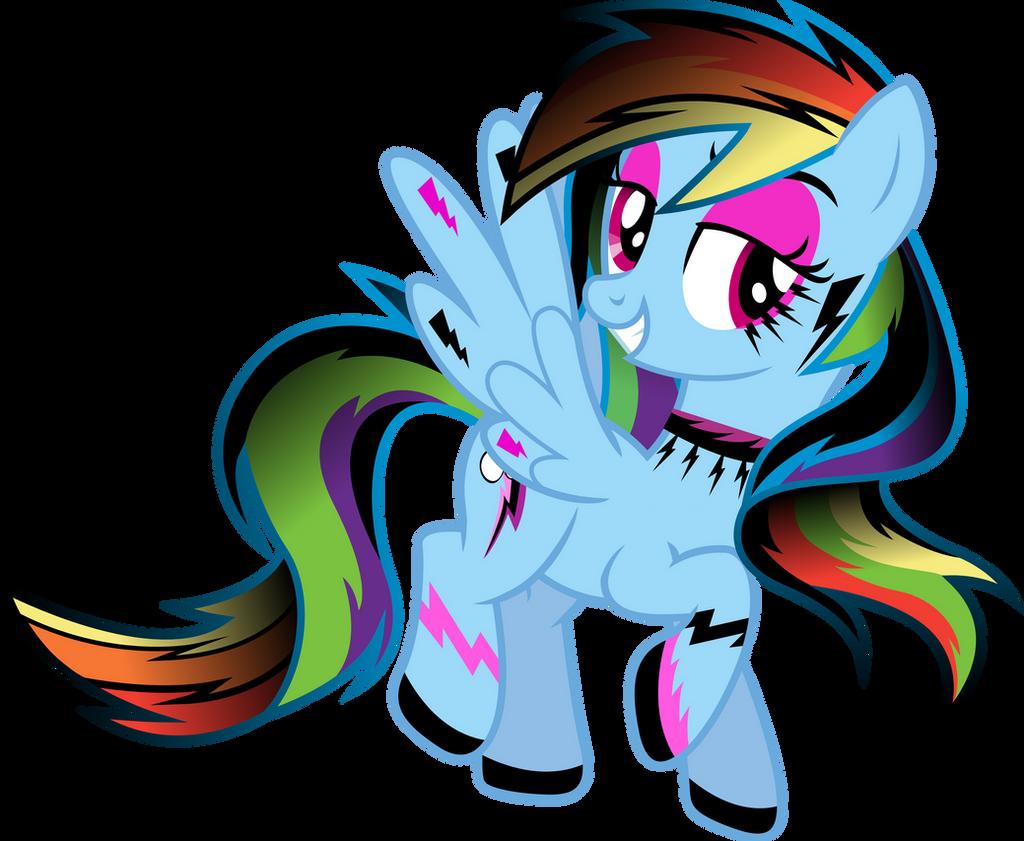 Gothic Rainbow Dash by TheShadowStone