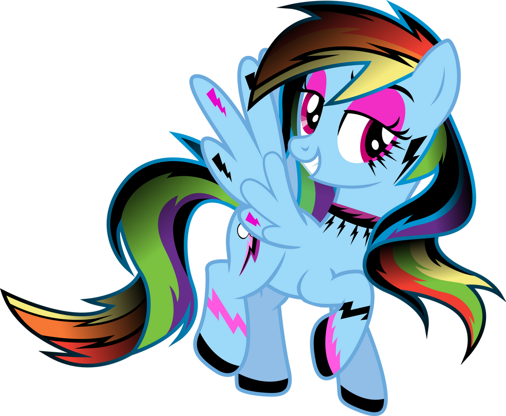 Gothic Rainbow Dash By Theshadowstone On Deviantart