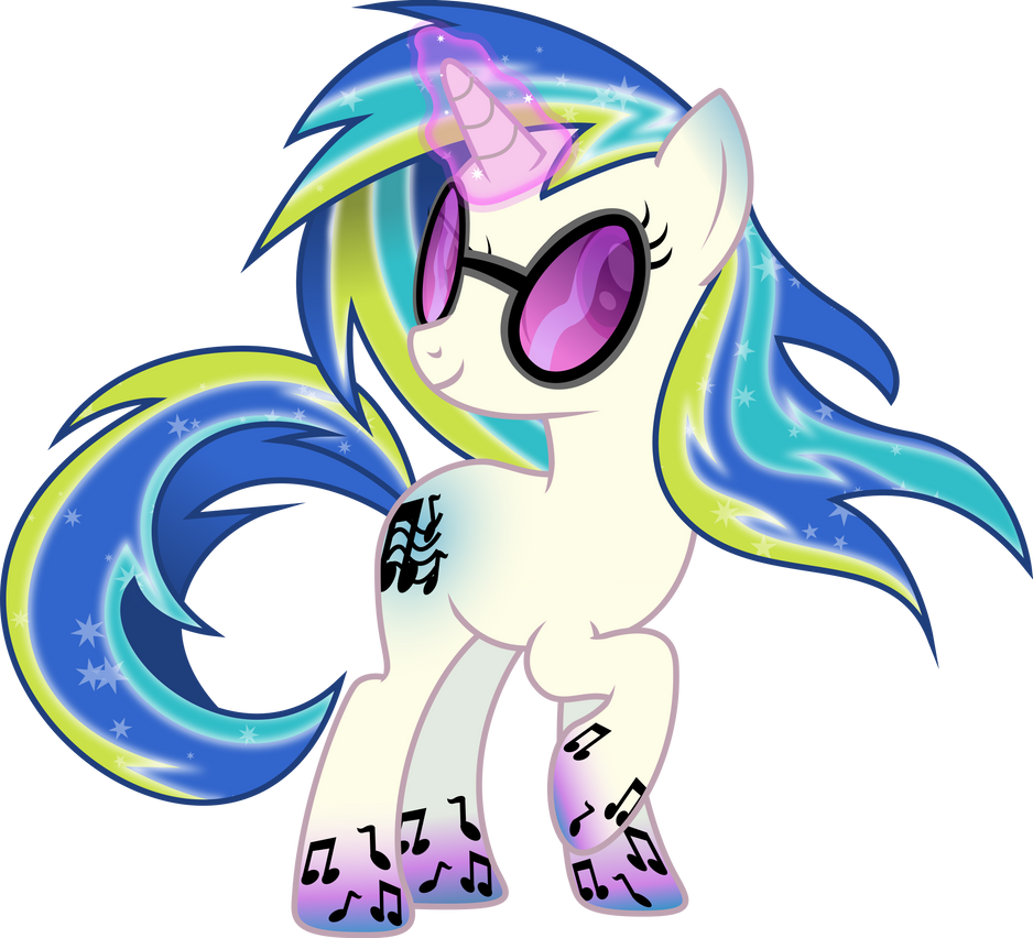 Rainbow Power DJ-Pon3 by TheShadowStone