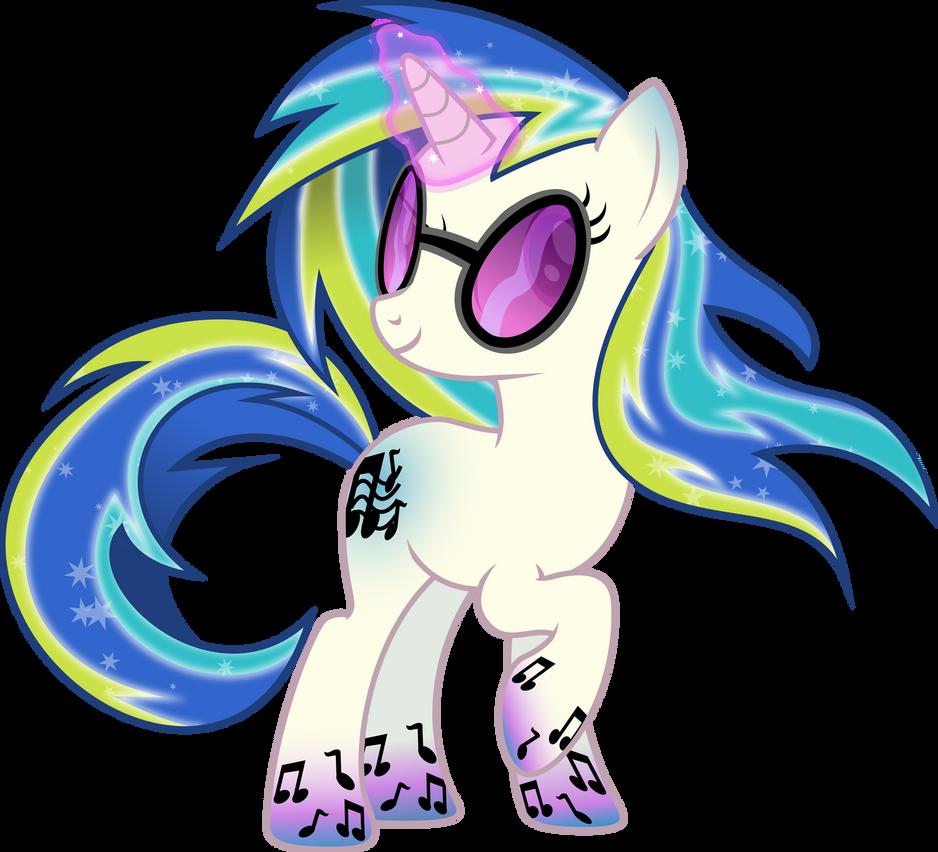 Rainbow Power DJ-Pon3 by TheShadowStone