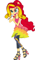 Rainbow Rocks: Sunset Shimmer by TheShadowStone