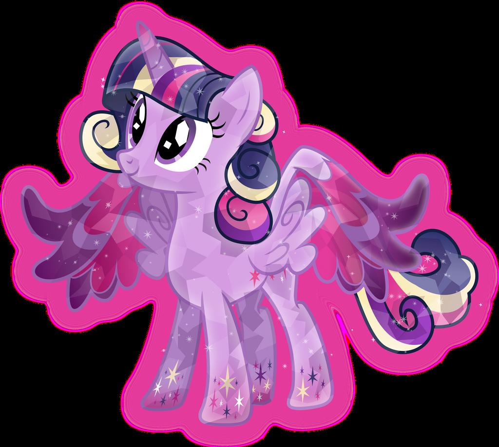 Rainbow Power Crystal Princess Twilight Sparkle By TheShadowStone On