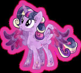 Rainbow Power: Crystal Princess Twilight Sparkle by TheShadowStone