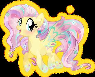 Rainbow Power: Crystal Fluttershy by TheShadowStone