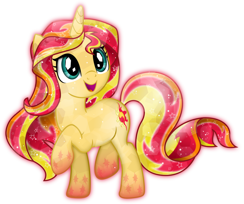 Rainbow Power: Crystal Sunset Shimmer