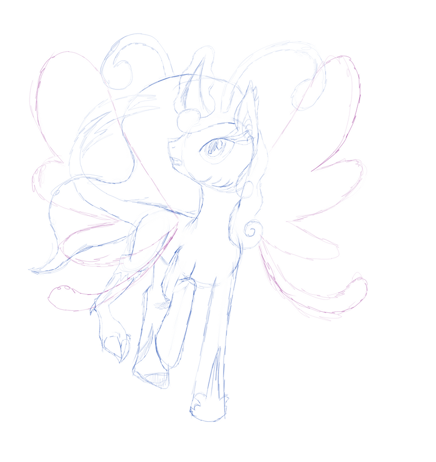 Princess Changeling Doodle by TheShadowStone