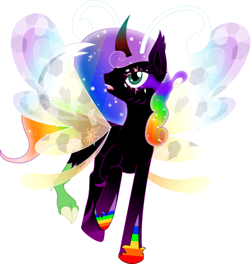 Princess Changeling Rainbow Magic Pants by TheShadowStone