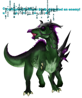 Corrupted Parasaur Has Detected an Enemy! by TheShadowStone