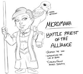 Micromana Sketch by TheShadowStone