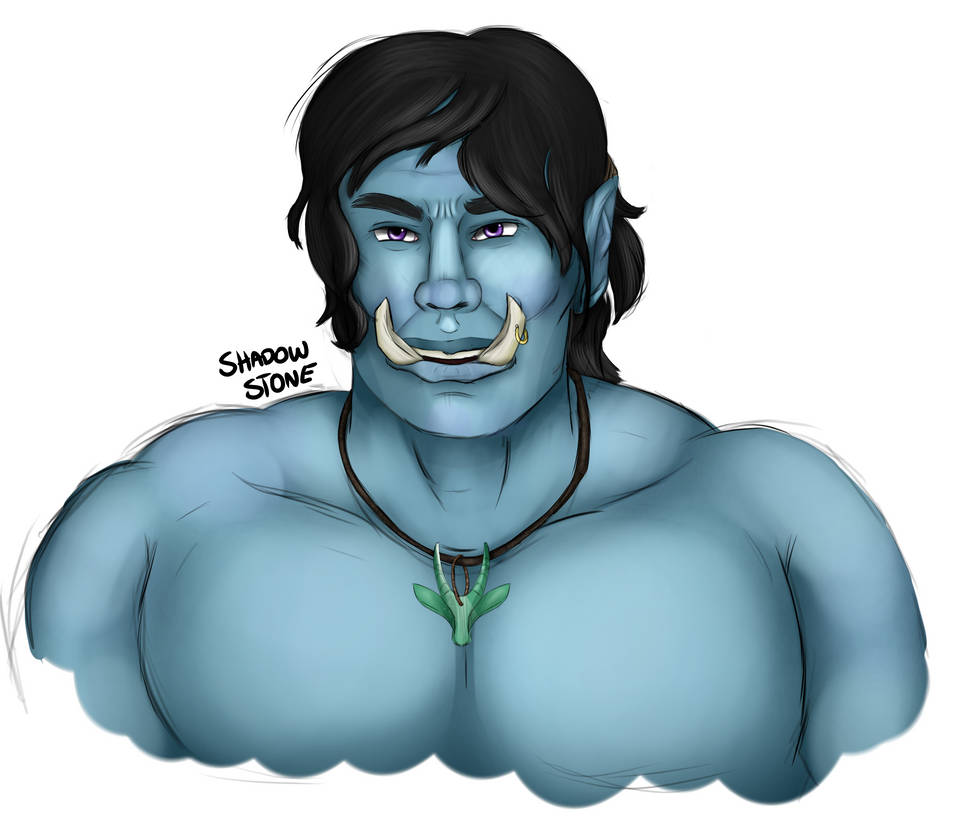 Commission: Blue Orc by TheShadowStone
