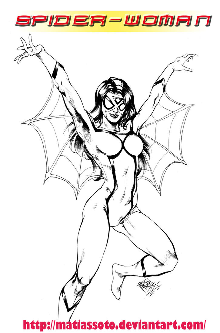 Uncategorized Spider Girl Coloring Pages spider woman jessica drew by matiassoto on deviantart matiassoto