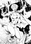 Powergirl raw inks