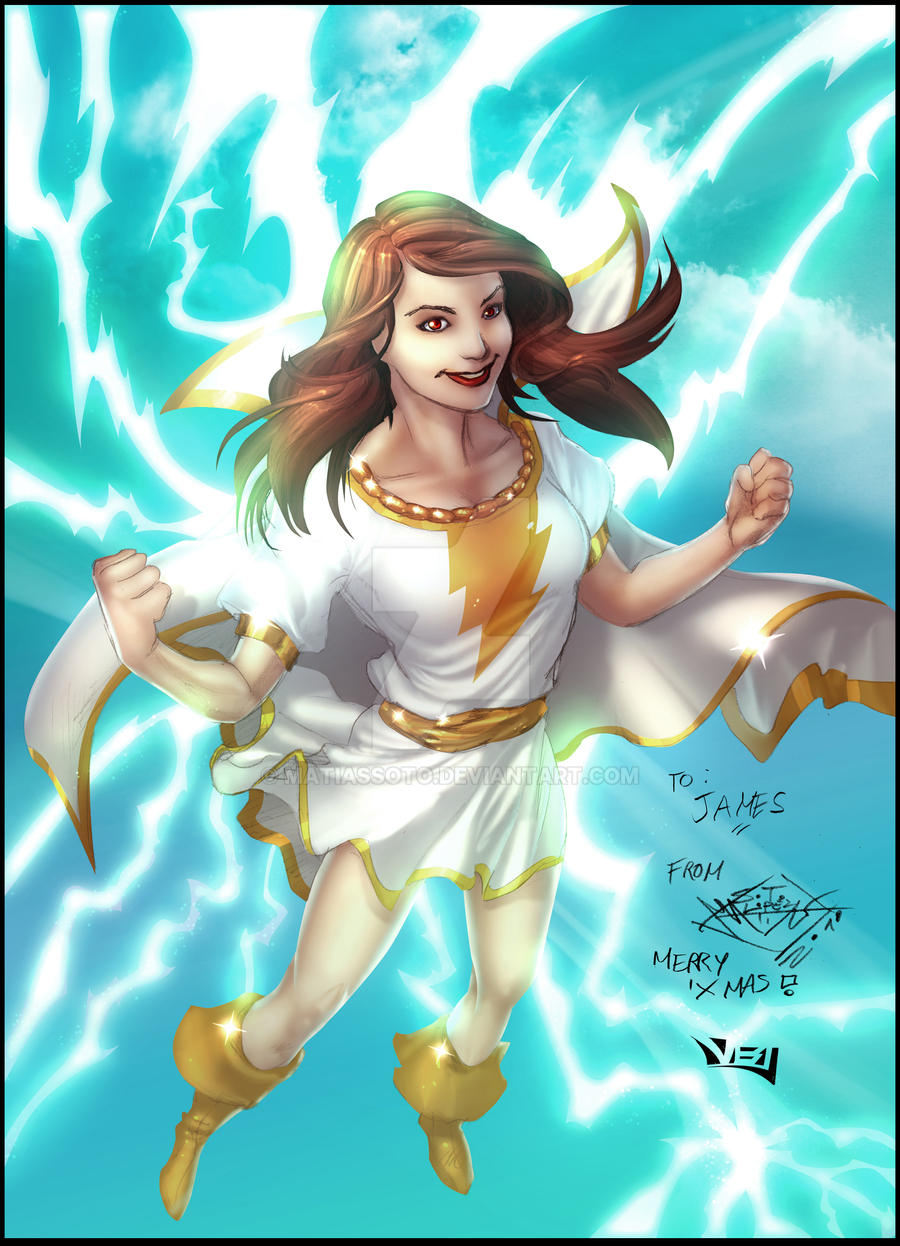 WOW ! Incredibles Adventures ! [Fiche RP : Mary Marvel] Mary_marvel_gift_in_colors_by_matiassoto-d36g1yn