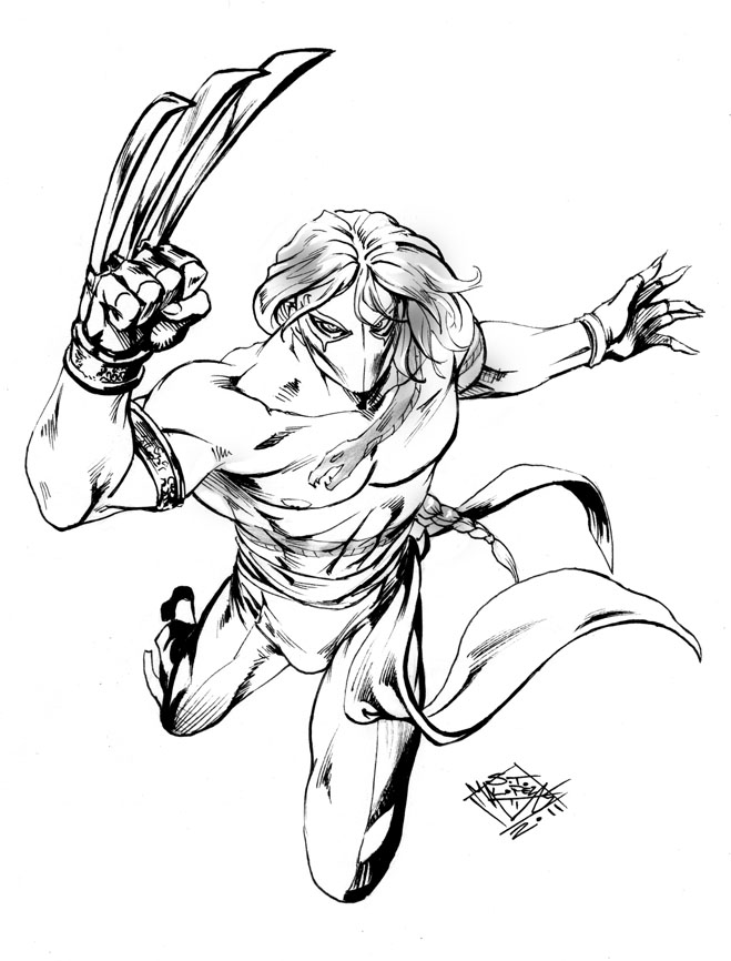 Vega Street Fighter Drawing Sketch Coloring Page