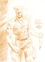 SF sketch: Guile by MatiasSoto