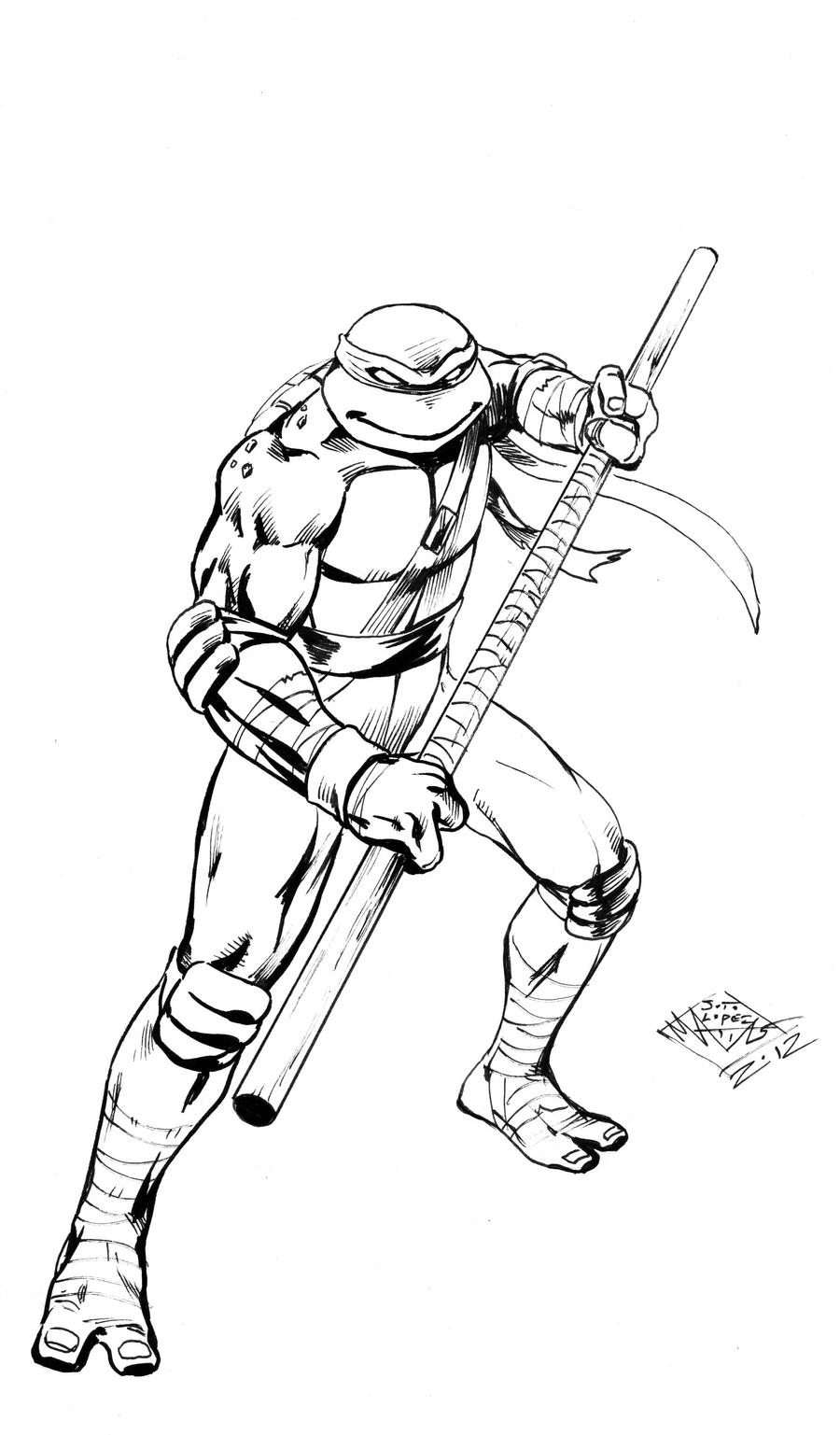 ninja turtles coloring pages - tmnt donatello by matiassoto on deviantart