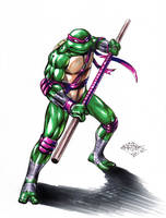 TMNT Donatello color by MatiasSoto