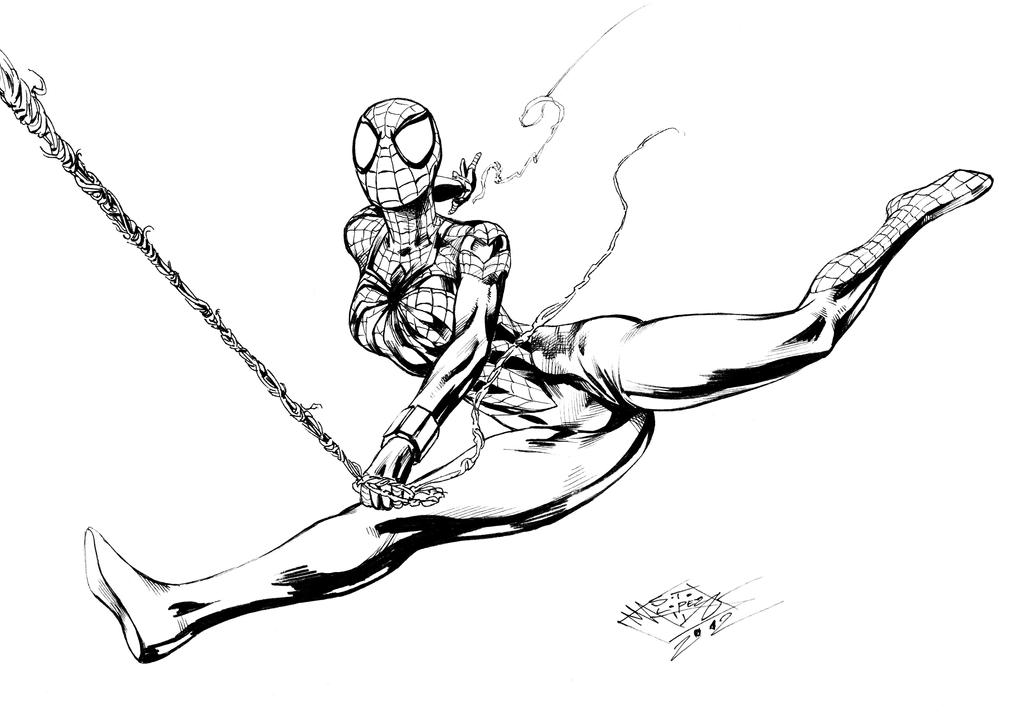 spider girl coloring pages - photo#42