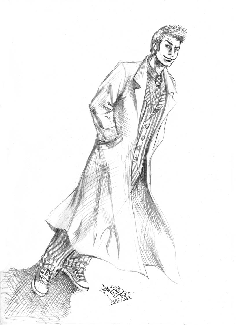 10th doctor who sketch by matiassoto on deviantart