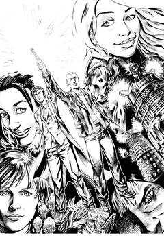Doctor Who -The Last Blue Sonic Flashes_lineart